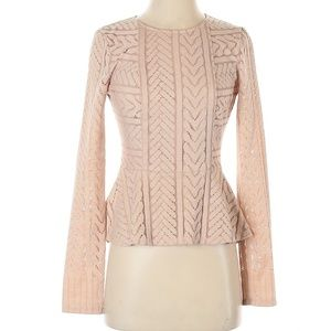 BCBGMAXAZRIA Pink XS Long Sleeve Blouse